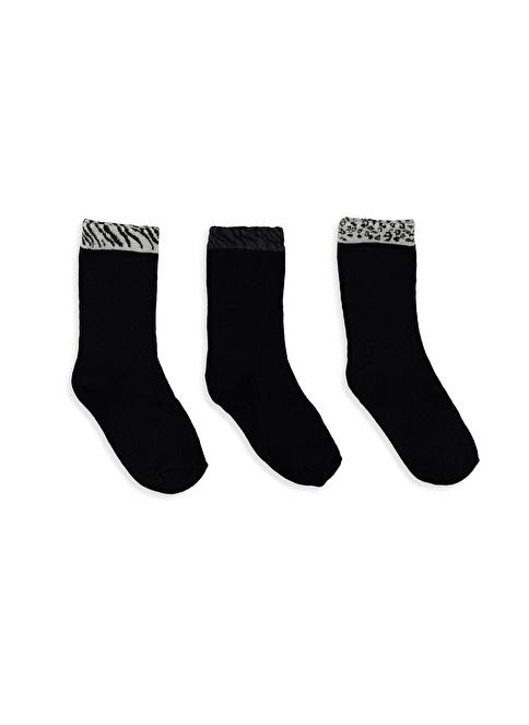 LC Waikiki 3'lü Çorap Siyah